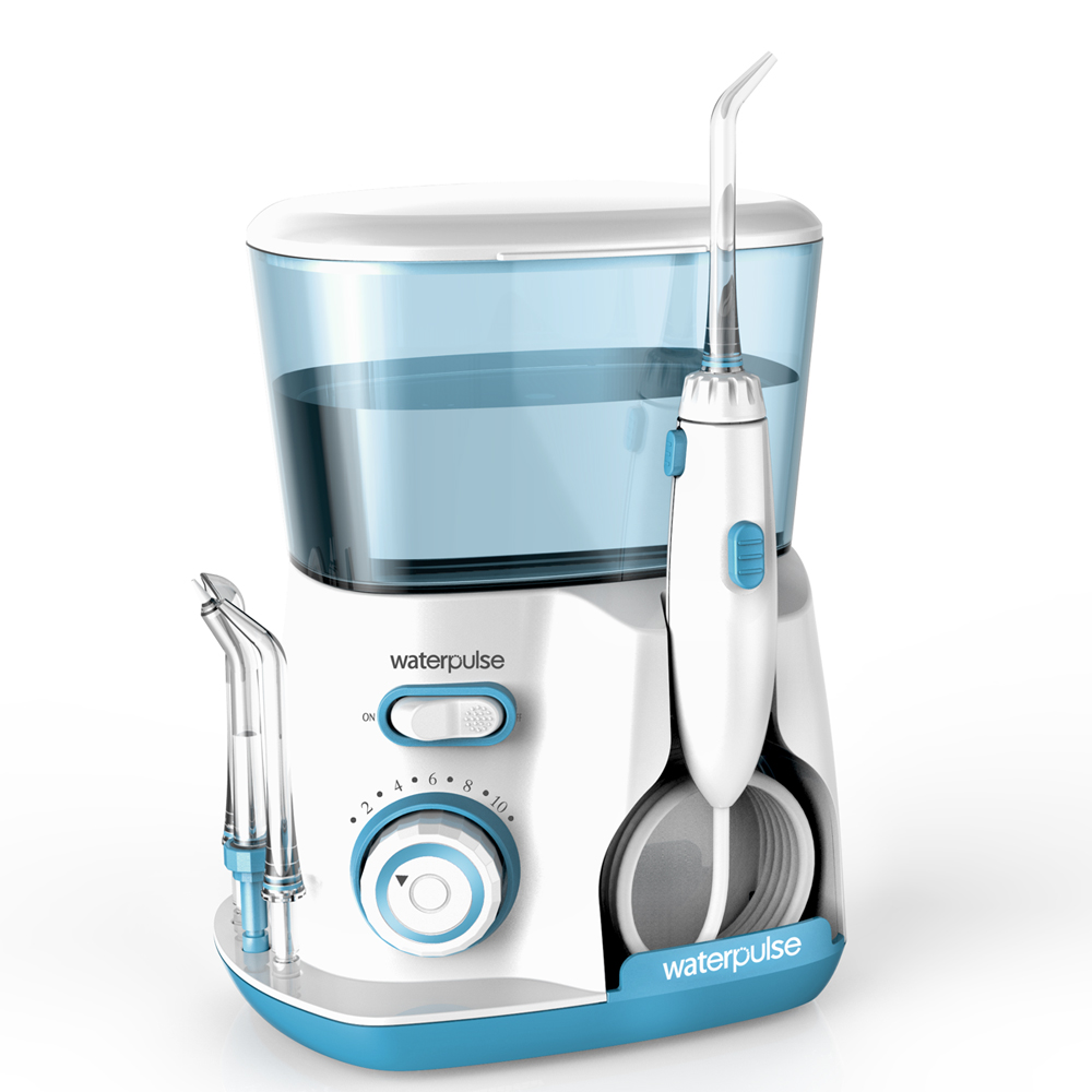 Image 4 - 10 levels Oral Water Dental Flosser Irrigator, 20 120PSI V300G Water pick + 5 Nozzles, 800ml Oral Hygiene tools for tooth clean-in Oral Irrigators from Home Appliances