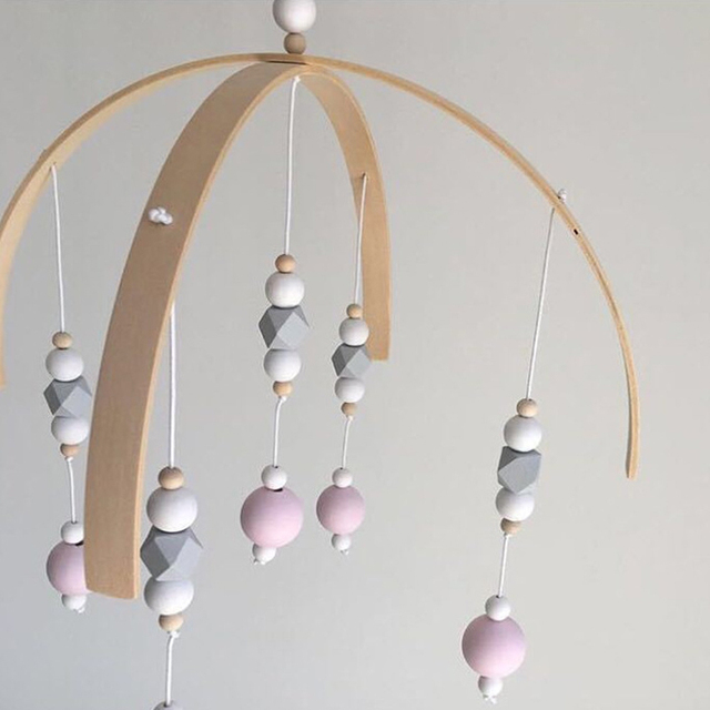 Wood and Bead Mobile