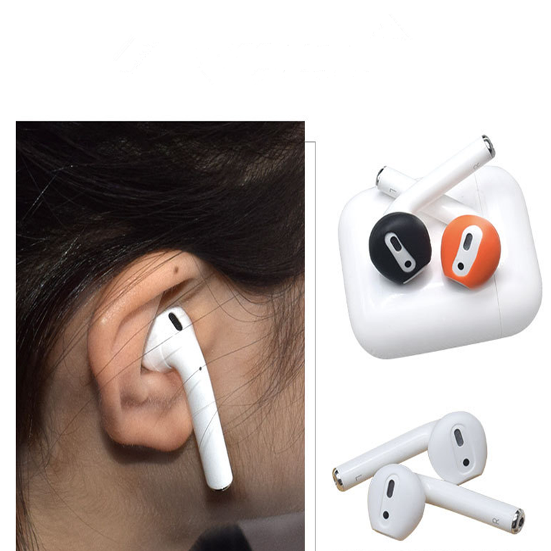 Image 4 - 4Pairs Anti slip Ultrathin Soft Silicone Ear Tips Earphone Earbuds  Replacement Cover Upgraded for Apple Airpods Earphone-in Earphone Accessories from Consumer Electronics