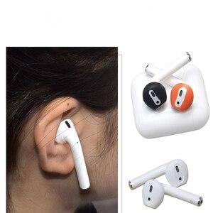 Image 4 - Auriculares antideslizantes ultrafinos de silicona, funda de repuesto mejorada para auriculares Airpods de Apple, 4 pares
