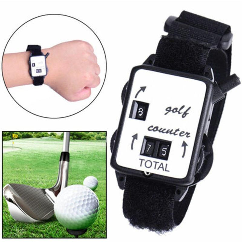 Mini Pocket Wristband Golf Club Stroke Score Counter Keeper Shot Scorer Referee Golf Training Aids Outdoor Sports Tool