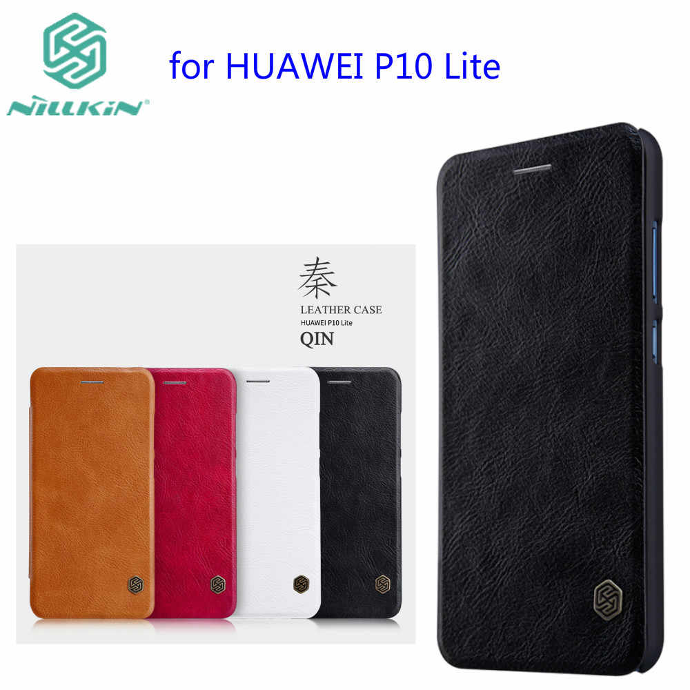 Para huawei p10 lite teléfono caso Nillkin vintage Qin cubierta de cuero de la PU de la caja de la PC de la caja de plástico para huawei nova Lite 5,2 pulgadas