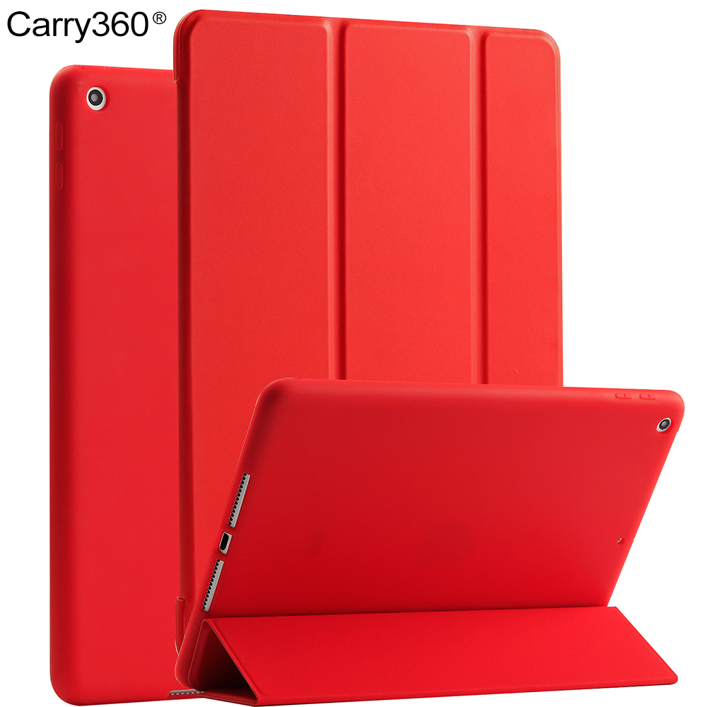 For iPad 2017 Case, Carry360 PU Leather + Soft Silicone Wake Sleep Stand Smart Cover for Apple iPad 2017 9.7 inch New Model nice tpu soft silicone back case stand smart cover for apple ipad 2 3 4 case pu leather magnetic wake sleep slim