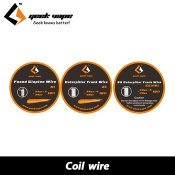 10ft Original GeekVape Clapton RDA Wire SS316 A1 Wire DIY High Quality Professional Coil Build Wire for RAD RBA Atomizer Coils