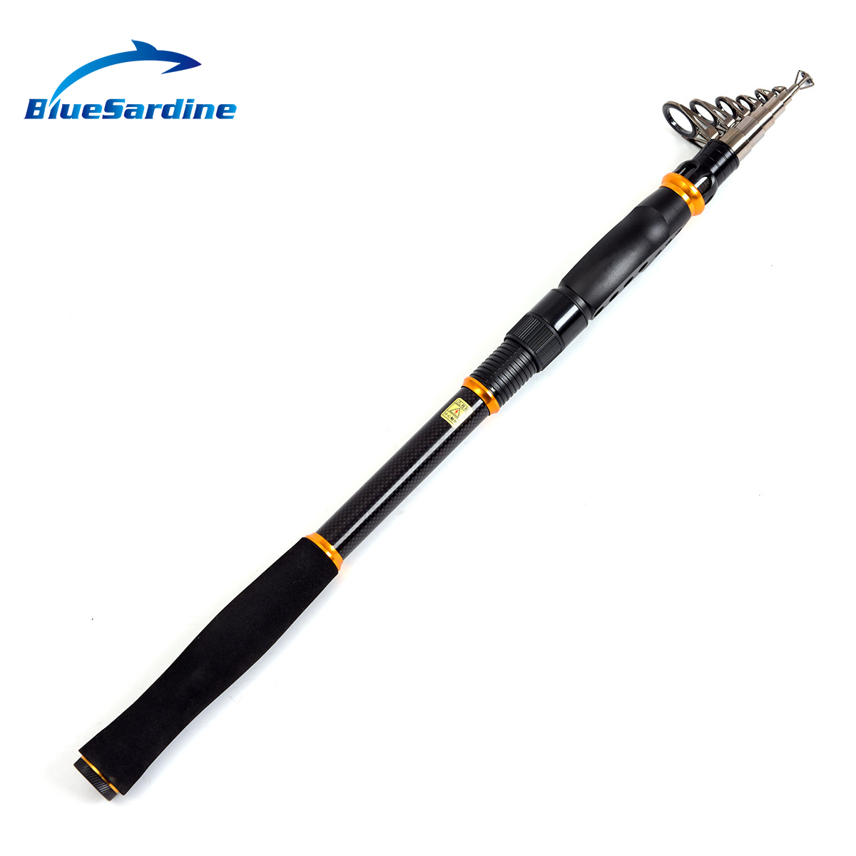 BlueSardine Spinning Fishing Rod Carbon Sea Fishing Telescopic Rod 2.1M 2.4M 2.7M 3.0M 3.6M
