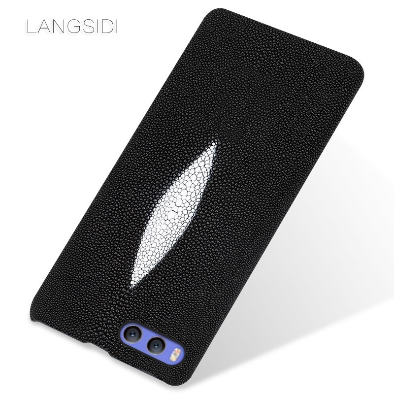 LANGSIDI marque coque de téléphone perle poisson demi-paquet de mobile étui de téléphone pour xiaomi mi 5 coque de téléphone complet manuel traitement personnalisé