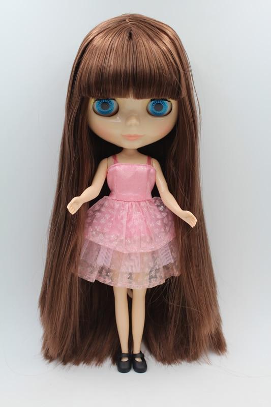 Free Shipping big discount RBL-260DIY Nude Blyth doll birthday gift for girl 4colour big eyes dolls with beautiful Hair cute toy