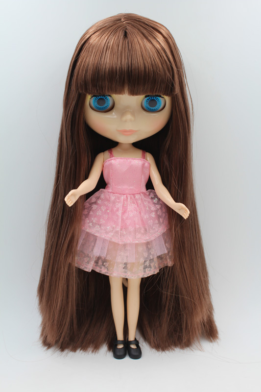 Free Shipping big discount RBL-260DIY Nude Blyth doll birthday gift for girl 4colour big eyes dolls with beautiful Hair cute toy big beautiful eyes косметический набор косметический набор big beautiful eyes