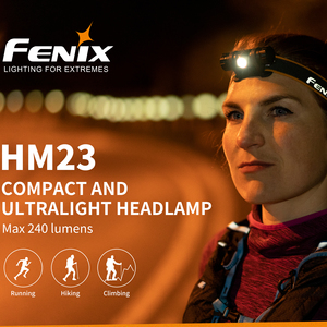 Image 1 - Lámpara de cabeza de Camping FENIX HM23 LED impermeable AA faro máximo 240lm