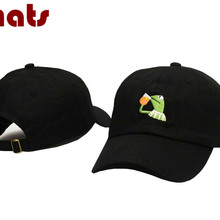 which in shower Embroidered Sipping Tea Frog Dad Hat Women M