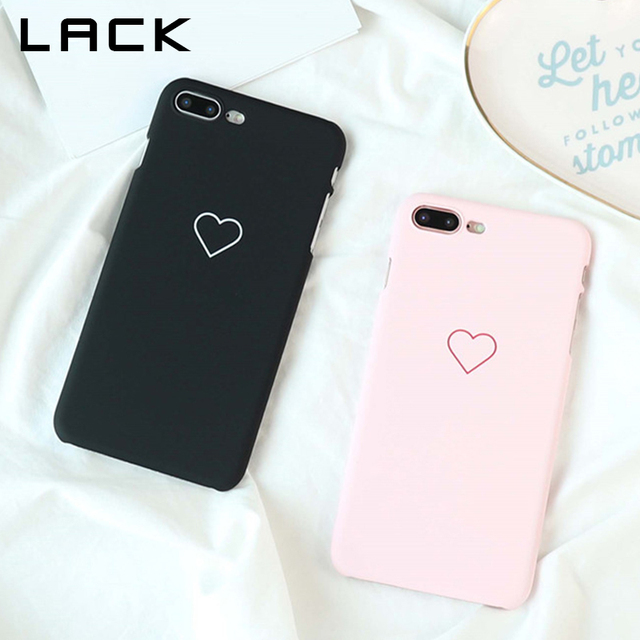 best sneakers 66870 1fb54 US $1.89 |LACK Cute Loving Heart Lovers Phone Cases For iphone 8 Case Ultra  Slim Hard PC Matte Back Cover Fashion Cases For iphone8 8 Plus-in ...