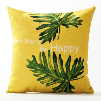 Rainforest Happy Cushion Cover