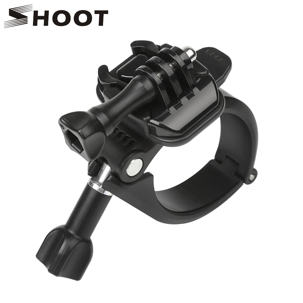 SHOOT Handlebar Seatpost Rotary Base Clamp Mount for GoPro Hero 7 6 5 Xiaomi Yi 4K H9 Sjcam Stand Holder for Go Pro AccessoriesSHOOT Handlebar Seatpost Rotary Base Clamp Mount for GoPro Hero 7 6 5 Xiaomi Yi 4K H9 Sjcam Stand Holder for Go Pro Accessories