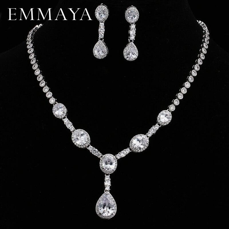 EMMAYA Zircons Brand Gorgeous Micro Inlay Full CZ Stones Around Crystal Party Wedding Jewelry Sets For Women
