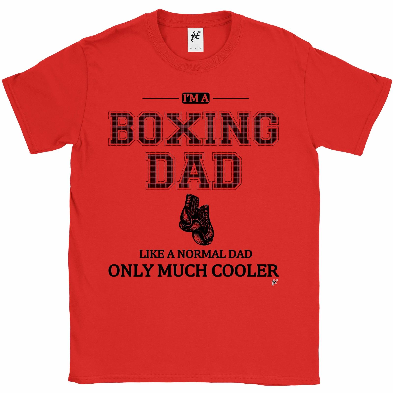 Im A Boxinged Dad Like A Normal Dad Only Much Cooler Fathers Day Mens T-Shirt