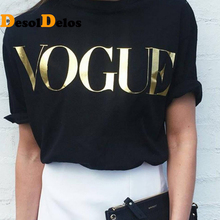 Plus Size XS-4XL Fashion Summer T Shirt Women VOGUE Printed T-shirt Tops Tee Femme New Arrivals Hot Sale 2019