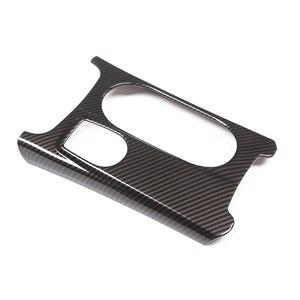 Image 2 - Tapa para consola central de coche, tapa para posavasos, textura de fibra de carbono/cromo, para Mercedes Benz A GLA CLA clase W176 X156 C117