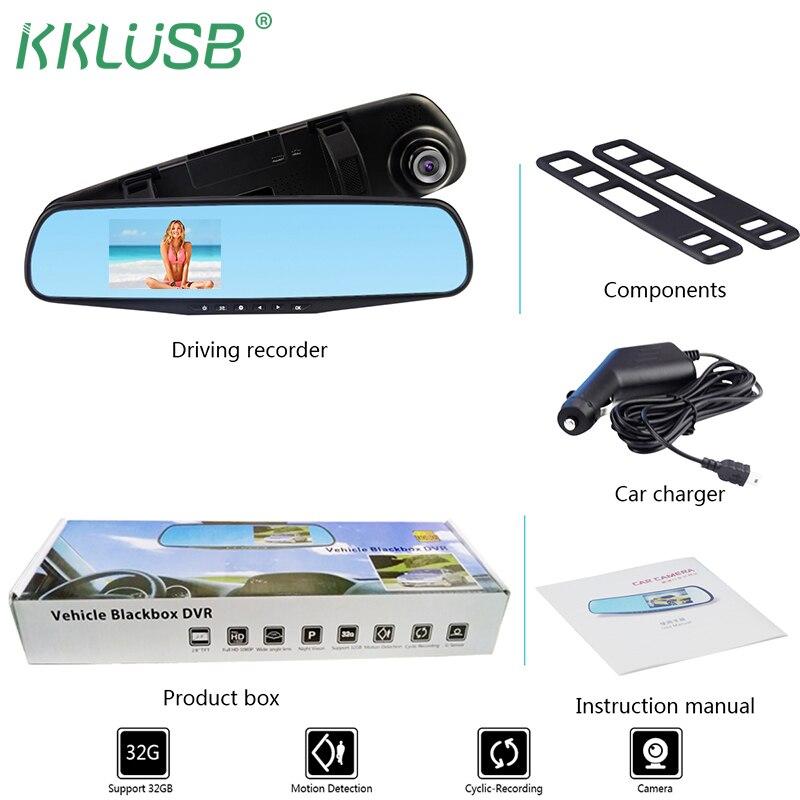Auto Dvr Kamera Full HD 1080 p Auto 3,2 zoll Rückspiegel Digital Video Recorder Dual Objektiv Registratory Camcorder DVR dash Cam
