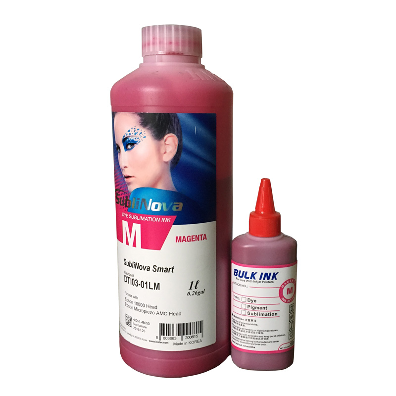1000ML Sublimation Ink  Made in Korea For Epson 1390 1410 L800 L1800 Printers Heat Transfer Ink Heat Press Ink (6Colors Avai medus silk mask made in korea original