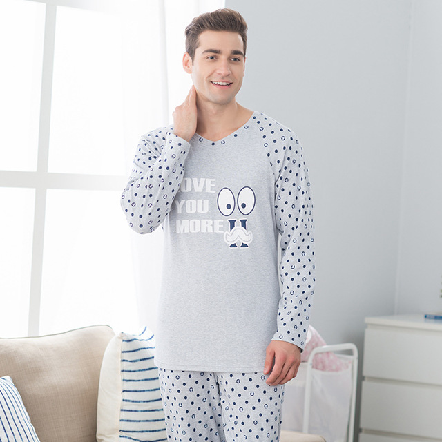 e76d77d93a Autumn couple pajamas women  s long - sleeved pants suit men  s casual  cotton