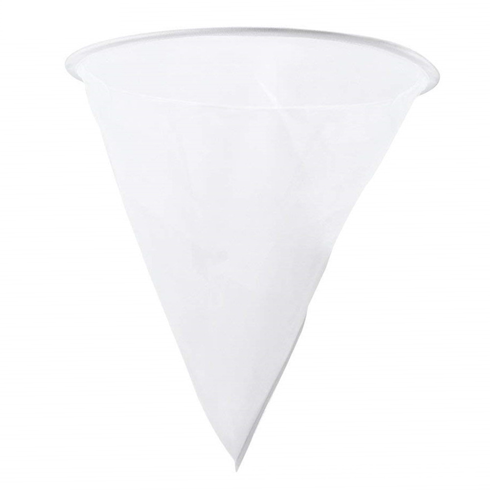 Single Layer Fiber Honey Strainer Mesh Net Cone Shape Filter Beekeeping Tools Apiary Equipment White Practical Durable Nylon