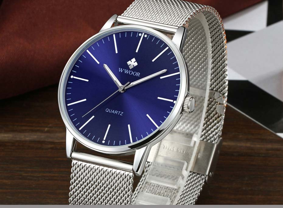 WWOOR 2019  Mens Watches Top Brand Luxury Gold Men\'s Minimalist Wrist Watches Ultra Thin Gift Watch For Men relogio masculino (5)