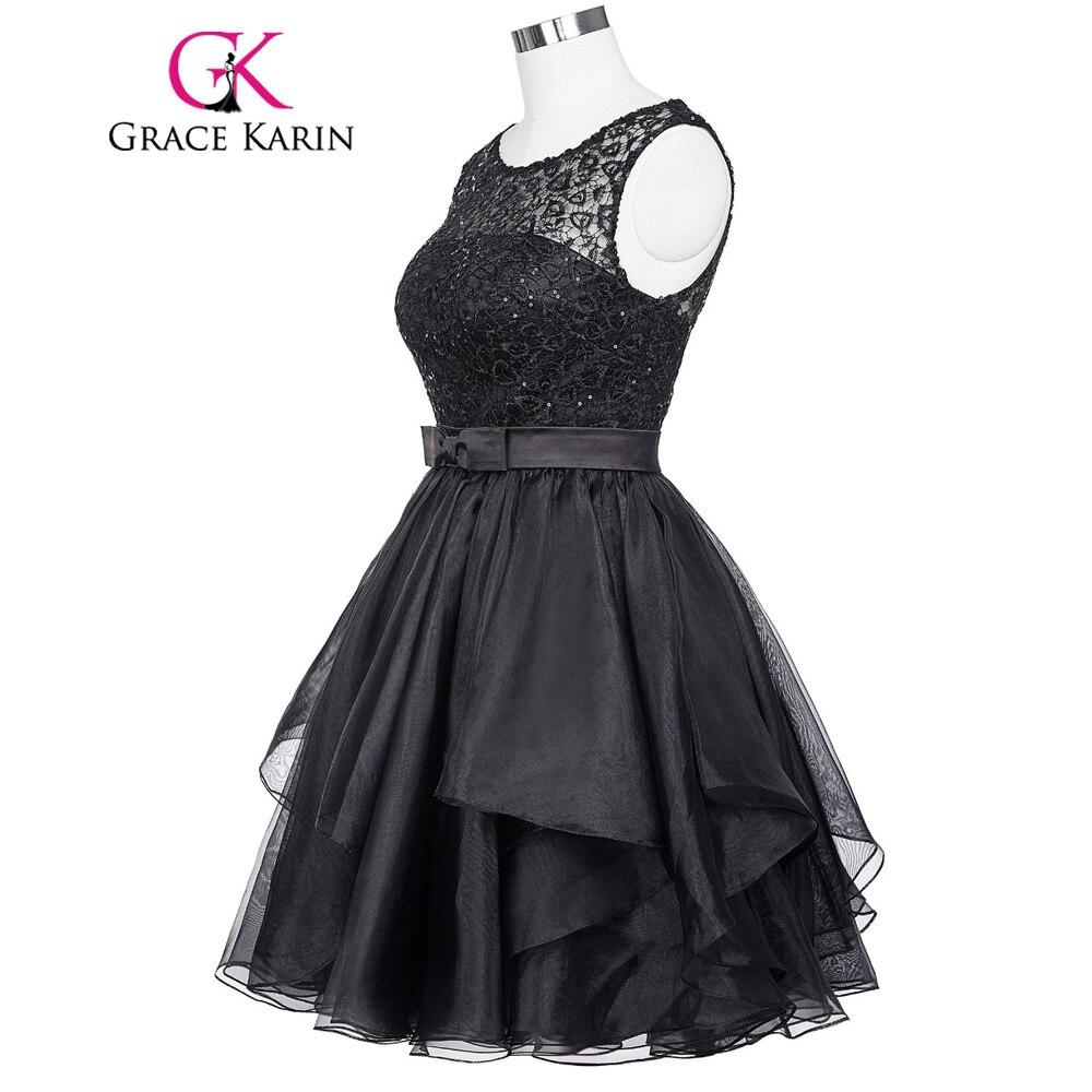 Vestidos de cóctel negro 2017 grace karin dress cuadro verdadero elegante de enc