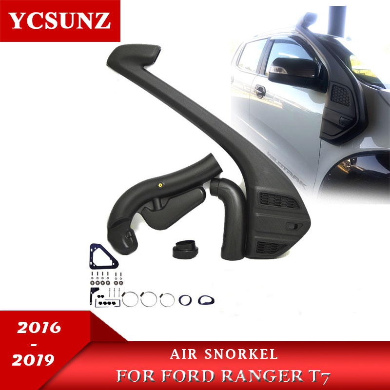 Air Raise Intake Snorkel For Ford Ranger Wildtrak T7 T8 2016 2017 2018 2019 Polyethylene Black