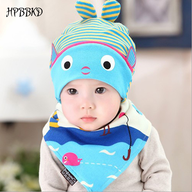 0f75fed070c HPBBKD Newborn Baby Hat Set 2pcs lot Infant Caps Cotton Baby Beanies Baby  Girls Boys Hat Bib Kids Scarf Baby Hat Scarf Set GH618