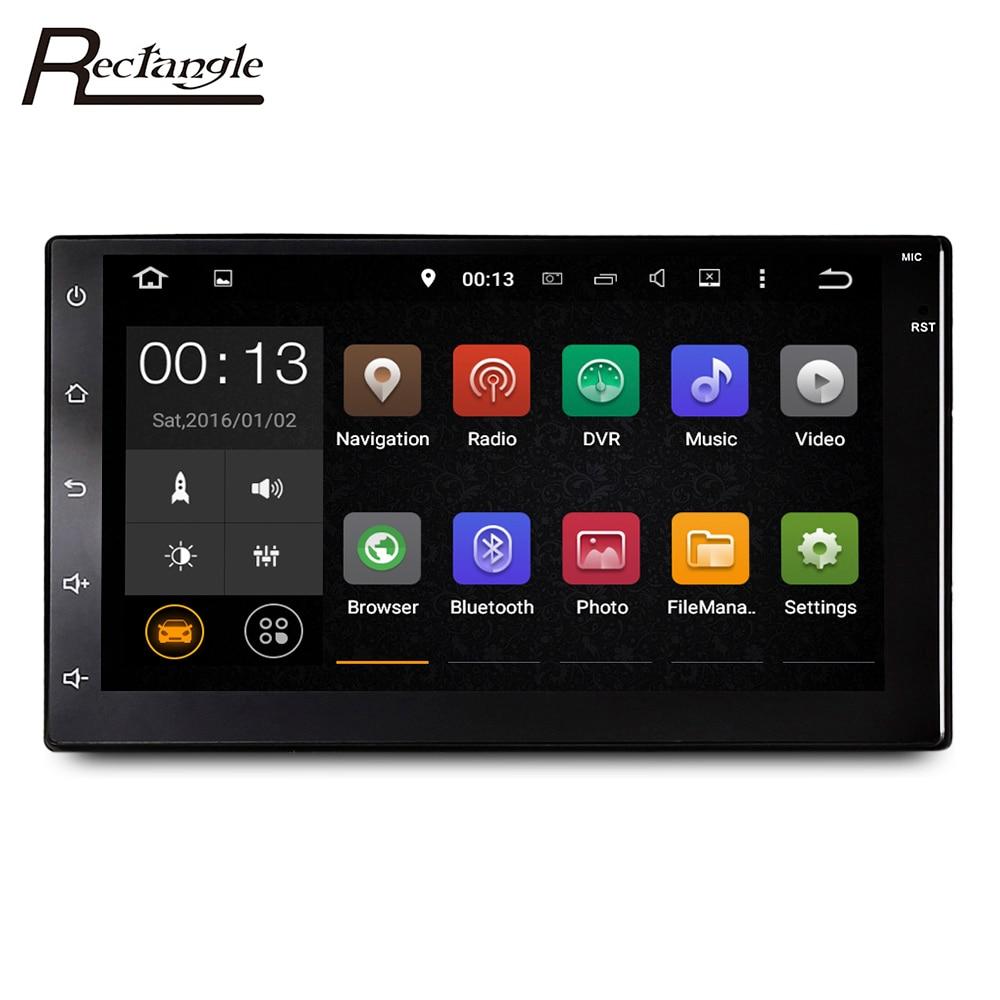 imágenes para Rectángulo Android 6.0 Multimedias Del Coche 2Din Jugador MP5 Video Player con Radio FM Bluetooth GPS WiFi 7 pulgadas Táctil Capacitiva pantalla
