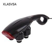 KLASVSA Electric Shiatsu Vibrator Massager Hammer Stick Roller Heads Back Neck High Frequency Acupressure Relax Health Care