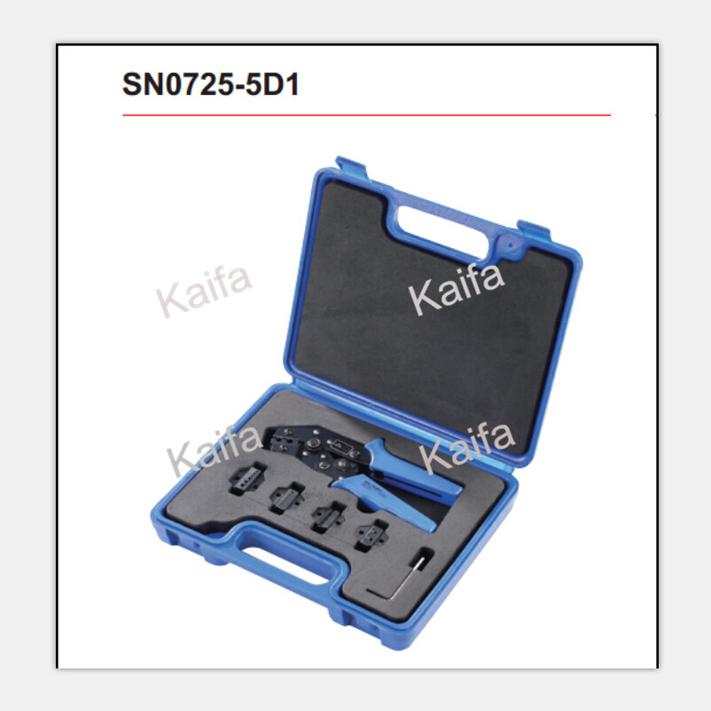 SN0725-5D1  combination tools in plastic box crimping plier pneumatic crimping tools plier with 15 sets of dies