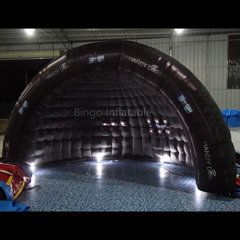 купить  black half dome inflatable tent with led lighitng-toy tents  недорого