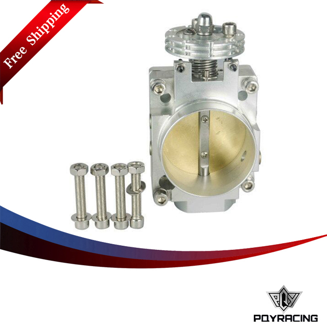 PQY Free shippinh- NEW THROTTLE BODY FOR NEW NISSAN SR20 S13 S14 S15 SR20DET 240SX THROTTLE BODY 70MM BOLT ON CNC SILVIA PQY6936 pqy racing free shipping new throttle
