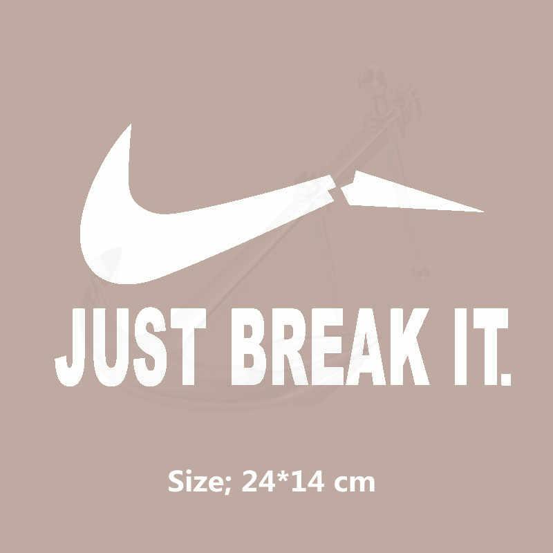 Просто сломайте его 24*14 см футболки платья свитер термопечать A-level моющаяся наклейка гладить на патч