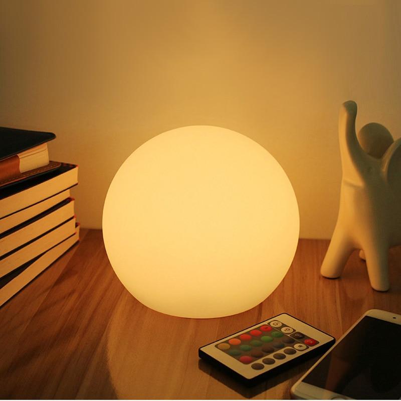 Dia15cm Magic LED Ball Night Lights Remote Control 16-Color Light Coffee Bar Dinning Room Illuminant LED Sphere Lamp GL504-15A
