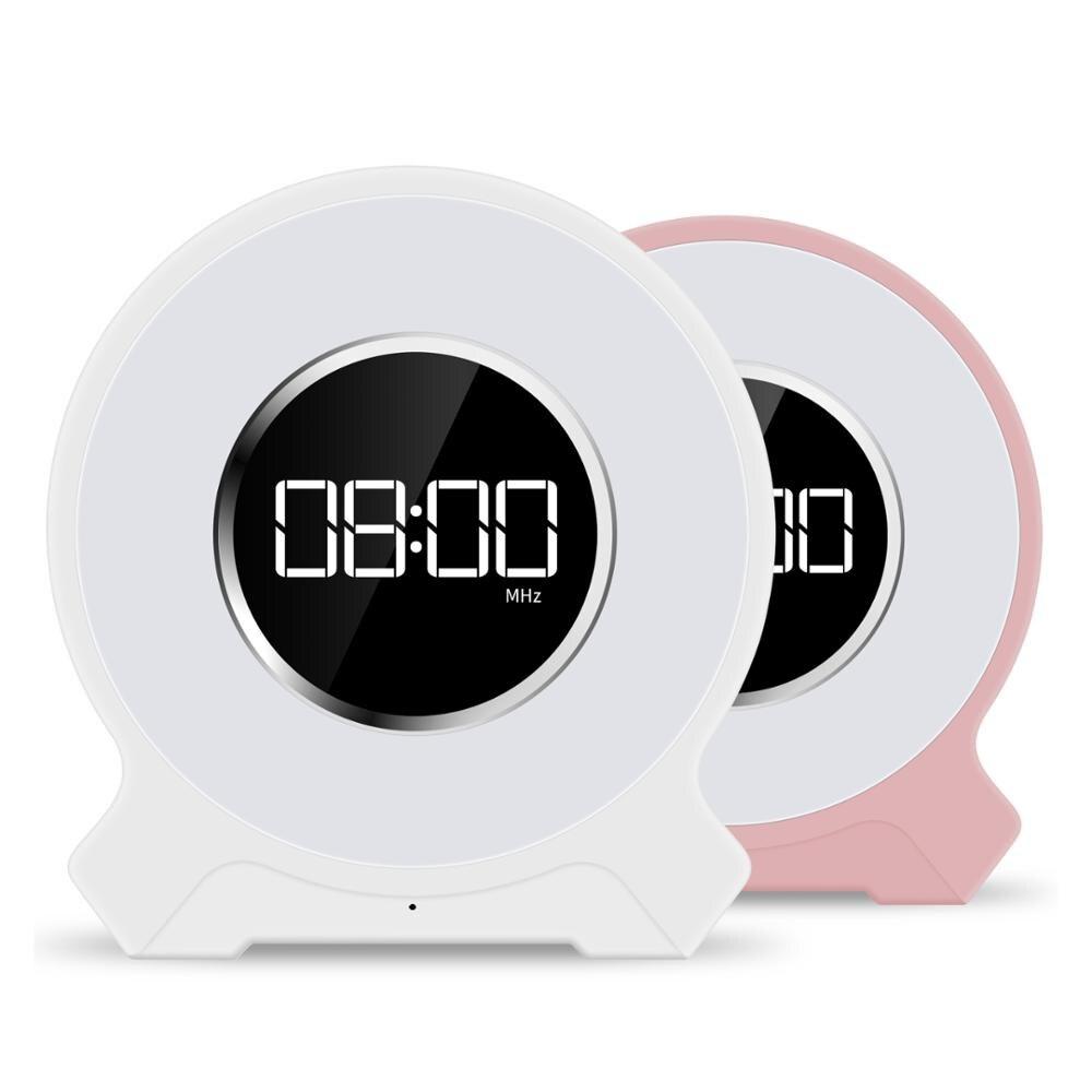 Table tactile lampe haut-parleur réveil lumière réveil portable sans fil enceinte LED avec lumière du soleil réveil