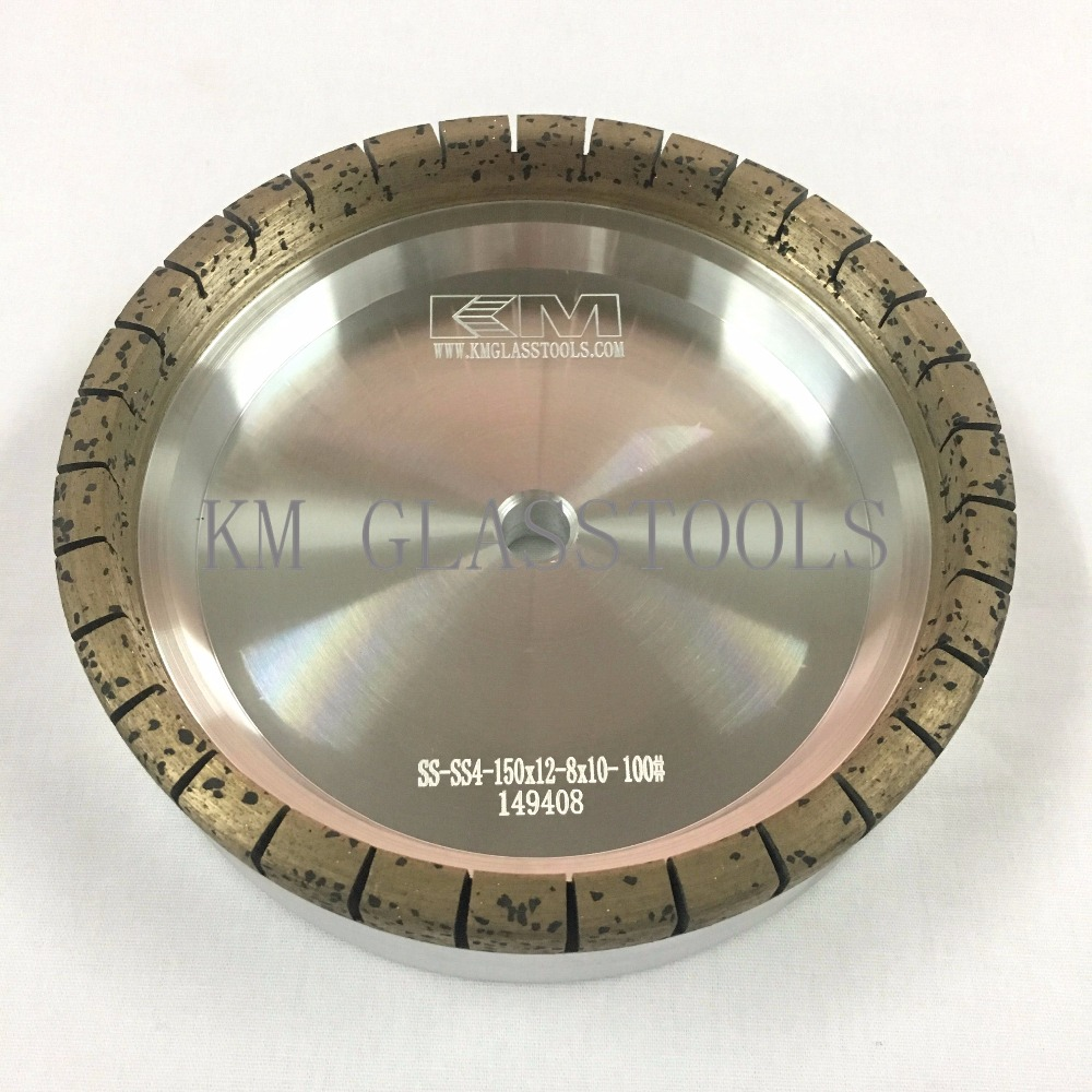 KM S3 SS4 High quality Diamond Wheel150x12x8x10mm for Straight line Edging Mitering Double Edging Machine