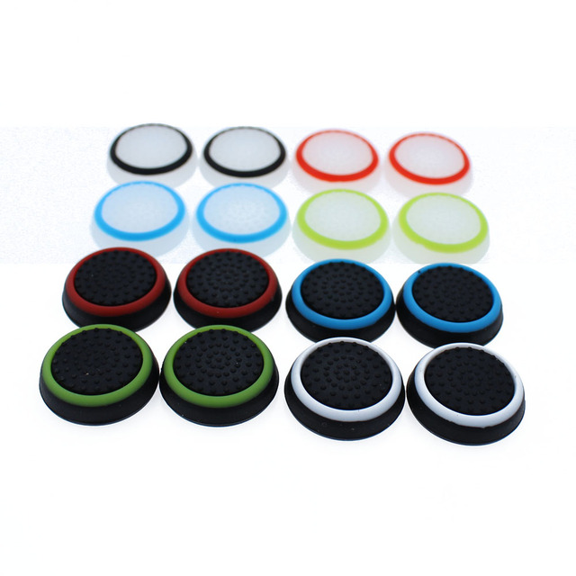 TingDong 1pcs  Game Accessory Protect Cover Silicone Thumb Stick Grip Caps for PS4/3 for Xbox 360/for Xbox one Game Controllers 2