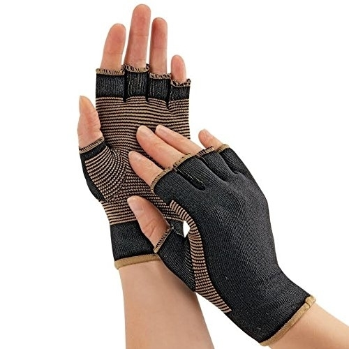 Copper Threaded Pain Releiving Arthritis Compression Gloves For Carpal Tunnel, Pain Releif, Computer Typing, And Everyday Support For Hands