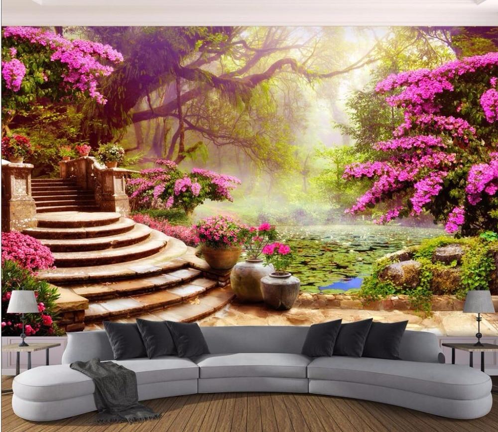 Home Design 3d Outdoor Garden On The App Store: 3d Wallpaper Custom Photo Mural Garden Garden Scenery