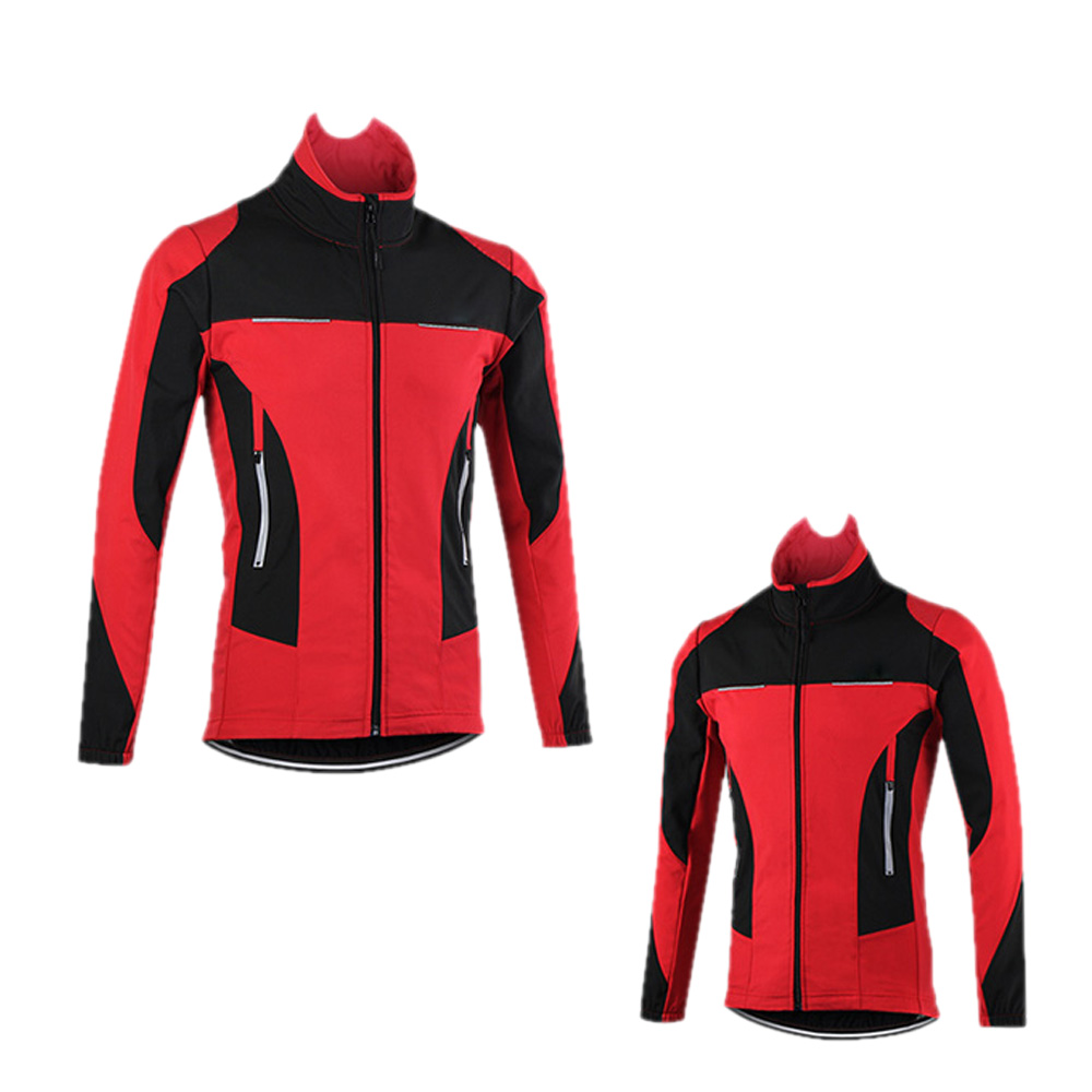 цена ARSUXEO Windproof Waterproof Thermal Cycling Jacket Winter Warm Up Bicycle Clothing Sports Coat MTB Bike Jersey онлайн в 2017 году