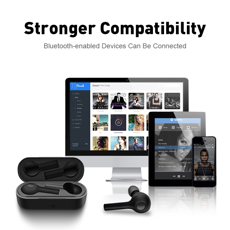 M&J New TWS Mini Bluetooth Earphones And Sports Earbuds With Bluetooth 5.0 11