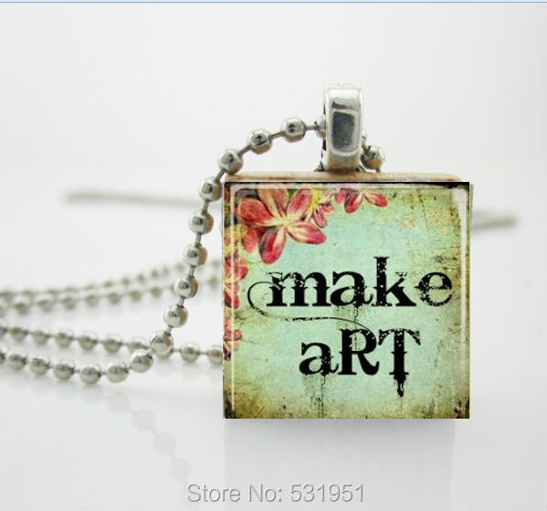 Vintage wooden necklaces make art necklace scrabble tile pendant vintage wooden necklaces make art necklace scrabble tile pendantscrabble tiles for jewelry aloadofball Image collections
