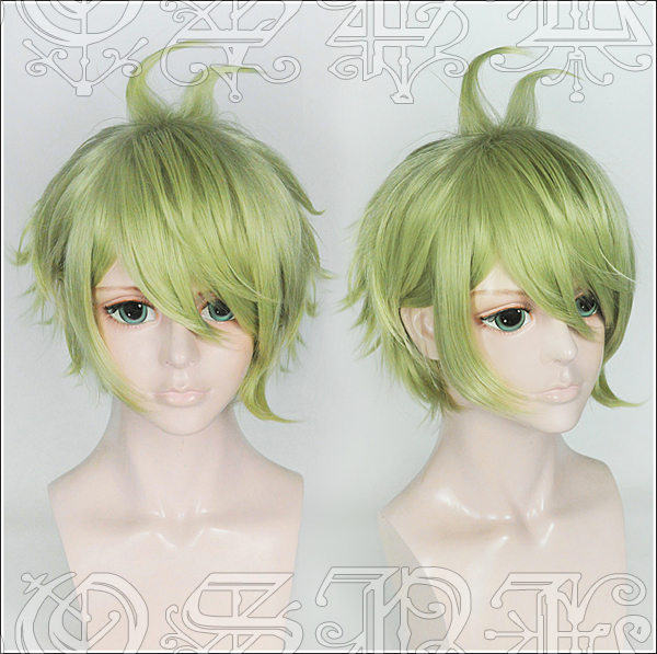 Japan Game New Dangan Ronpa V3 wig Rantaro Amami green styled hair wig V3 cosplay  Wig