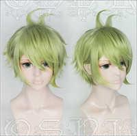 Japan Spiel Neue Dangan Ronpa V3 perücke Rantaro Amami grün styled haar perücke V3 cosplay Perücke
