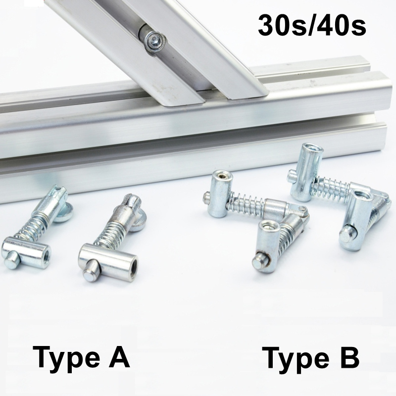 4pcs Anchor Joint Connection for Aluminum Profile 3030 4040 Series, Fast Drop in Connector with Any Degree for Aluminum Profile aluminum alloy zinc alloy flexible pivot joint connector with handle for aluminum extrusion profile 3030 4040 4545 series