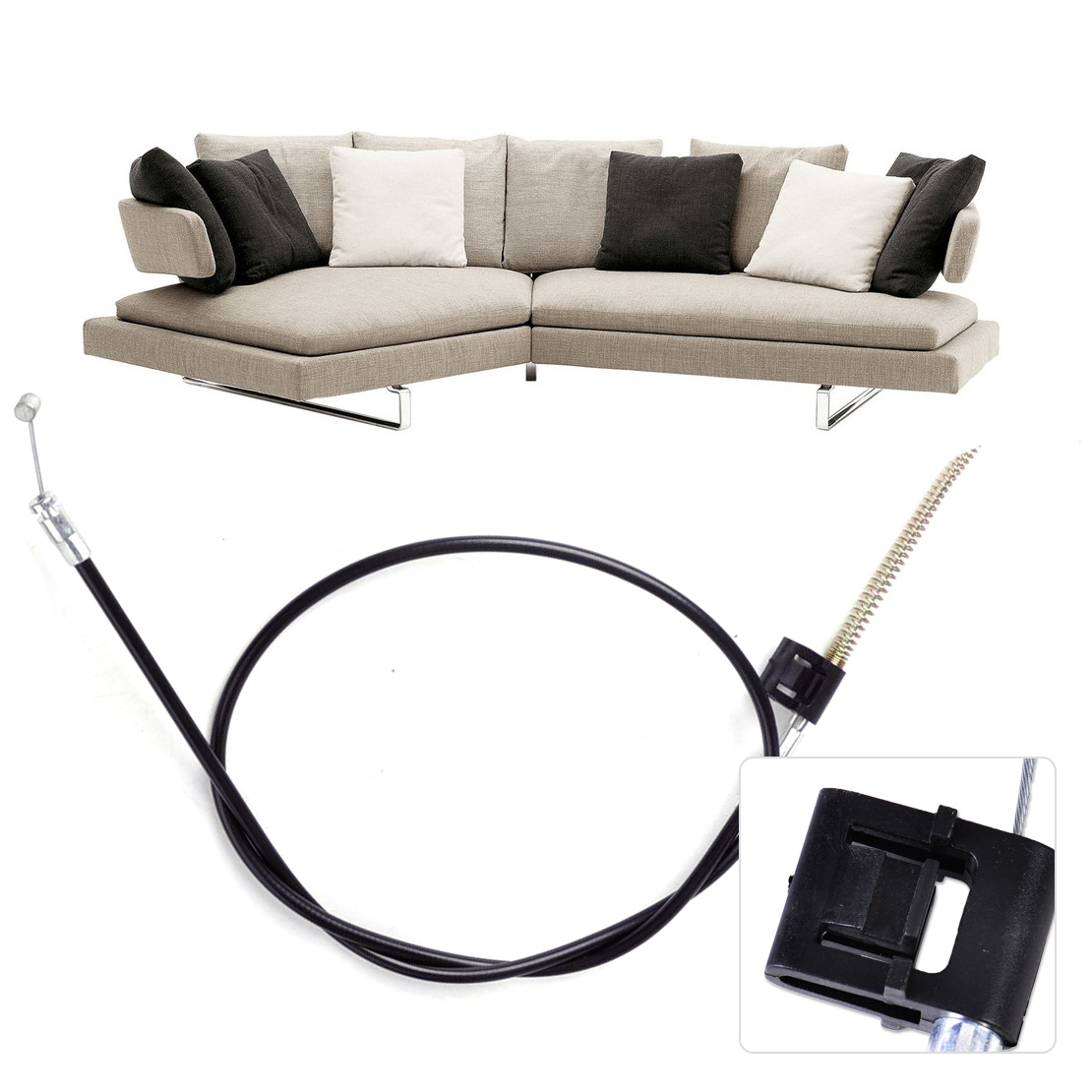 Metal Recliner Chair Sofa Handle Cable Couch Release Lever Replacement Cable 2 pcs set durable metal handle recliner chair sofa couch release lever replacement pull handle part black suite recliner