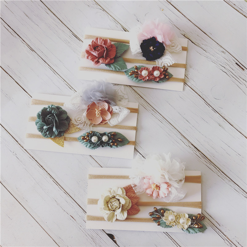 3pcs/lot Baby Headband Cotton Baby Headbands For Girls Flowers Baby Girl Headbands Newborn With Bows Bandeau Bebe Fille