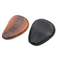 Chopper Bobber Harley Motorcycle Seat Cushion Modified Retro Single Seat Vintage Motorbike Spring Leather Seat Covers